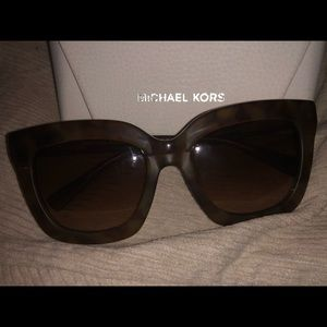 Authentic Tan Michael Kors Sunglasses